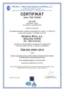 Certifikát ISO 45001